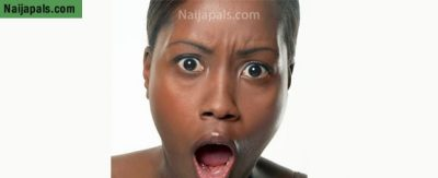 Shocked black face