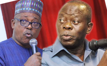 PDP chairman, Uche Secondus and APC chairman Adams Oshiomhole